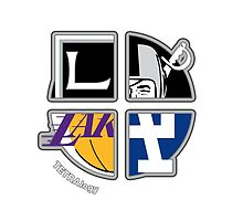 Los Angeles Pro Sports TETRAlogy! Dodgers, Lakers, Kings, and Raiders by SplitDecision