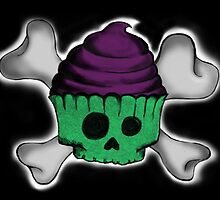 Skupcake (Black Background) by ickiskull