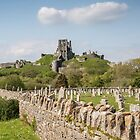 Corfe Castle , Dorset, UK by Pauline Tims