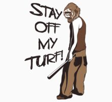 Gangsta Gorilla - Stay Off My Turf! Funny T Shirt by wordsonashirt