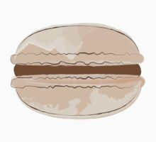 Chocolate Macaron Sticker Watercolor Food Art Baking by StickerStore