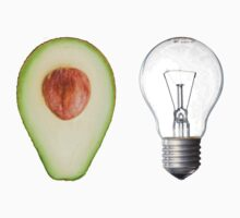 Random avocado and lightbulb by cj2233
