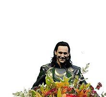 loki with flowers by sherlokian