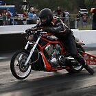 Drag Racing Harley by Paul  Donaldson