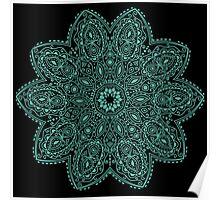 Bohemian Mandala Teal Poster