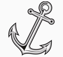 Black vintage anchor by Fuchs-und-Spatz