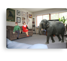 I know you always avoid conflict, but seriously, we really should address the elephant in the room. Canvas Print