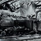 Steam Train Snow Hill Station Birmingham England Charcoals by JamesPeart