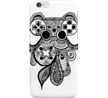 Games Console Zentangle all Black iPhone Case/Skin