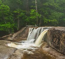 Rainy day at Diana's Bath - NH by JHRphotoART