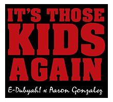 It's Those Kids Again Throw Pillow by edubyah