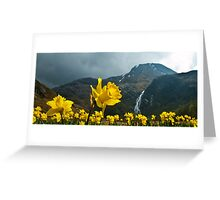 Yellow on the Mountain Greeting Card