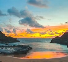 Halona Cove Sunrise 1 by Leigh Anne Meeks