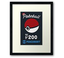 Pokemon Pokeball Pokemart Ad Framed Print