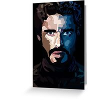 Game of Thrones - Rob Stark WPAP Greeting Card