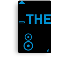 TURN THE BASS UP - Crossfader & Speaker DJ, Dark Canvas Print