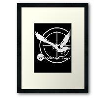 Metal Gear Solid 4 - Raven Sword (White) Framed Print
