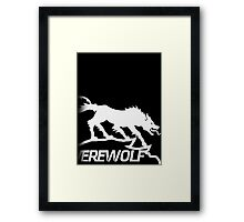 Metal Gear Solid 4 - Werewolf (White) Framed Print