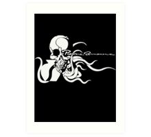 Metal Gear Solid 4 - Pieuvre Armement (White) Art Print