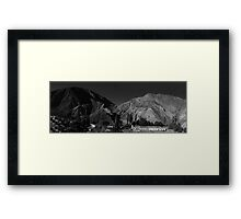 Mountain Panorama of Purmamarca - No. 2 - Monochrome Framed Print
