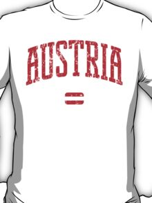 Austria (Red Print) T-Shirt