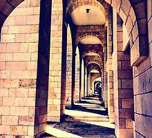 Notre Dame walkway by Karen Gibson