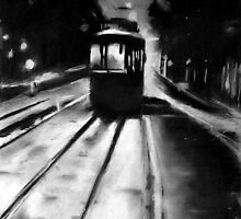 tram by night by Denny Stoekenbroek