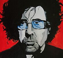 Tim Burton acrylic on Canvas by Sarah Horsman