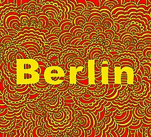 Berlin Drawing Meditation (red/yellow) by kpdesign