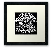 Shredder's Gym Framed Print