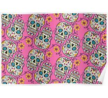 Sugar Skull Halloween, Day Of The Day PINK Poster