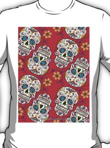 Sugar Skull Halloween, Day Of The Day RED T-Shirt