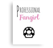 Professional Fangirl - Super Mario Canvas Print