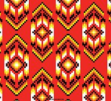 Native American Design Bead Pattern CLAY by Carolina Swagger