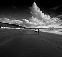Footprints In the Sand  by Rob Hawkins
