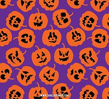 Halloween Pumpkin Pattern Purple by Carolina Swagger