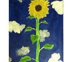sunflower Ipad by cmoartist2012