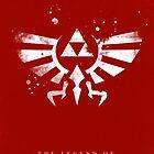 Legend of Zelda Hyrule Crest Red by dylanwest2010