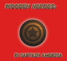 WOODEN HEROES: #1 Captain America by RockSky-Comics