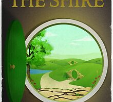 Lord of the Rings The Shire Travel Poster by dylanwest2010