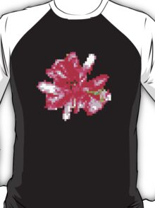 8 bit tongue flower T-Shirt