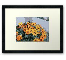 8bit orange things Framed Print