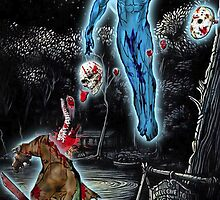 Dr. Manhattan Vs. Jason by American Artist