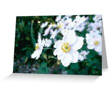 different 8bit flower Greeting Card
