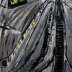 London Underground Escalators Urban City Acrylic Painting  by JamesPeart