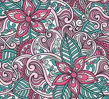 Indian Floral Pattern by vicusa