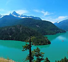 Diablo Lake Panorama 2 by kchase