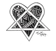 Patterned Heartagram by BonesToAshes