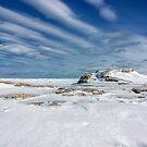 Snow Covered Lava Rift by April Koehler