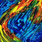 Colorful Abstract Art - Energy Flow 3 - By Sharon Cummings by Sharon Cummings